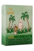 Profilattici Amor Wild Moments Stimolanti e Ritardanti 3pz