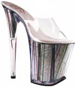 Sandalo argento con glitter