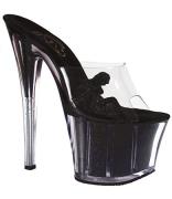Sandalo nero con glitter