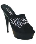 Sandalo nero con swarovski