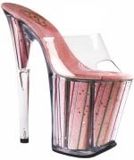 Sandalo rosa con glitter